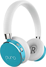 Puro Sound Labs BT2200 On-Ear Headphones Lightweight Portable Kids Earphones with Safe Wireless, Volume Limiting, Bluetooth and Noise Isolation for iPhone/Android/PC/Tablet (Teal)
