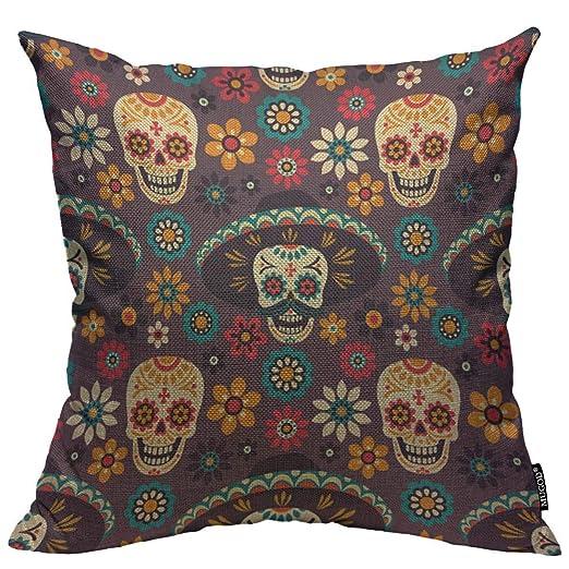 UYIHAD Funda de Almohada Decorativa para sofá, Tela Vaquera ...