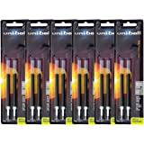 Uni-Ball Signo 207 Gel Pen Refills, 0.7mm, Medium Point, Black Ink, Pack of 12