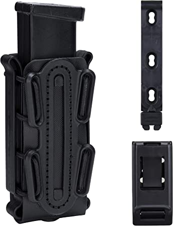 IDOGEAR Mag Pouch Pistol Magazine Pouches 9mm Softshell Adjustable Universal Mag Carrier .40 S&W .45 ACP with Belt&MOLLE Clips