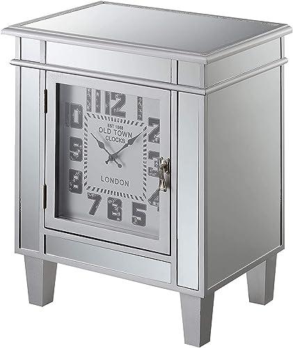 Convenience Concepts Gold Coast Clock End Table