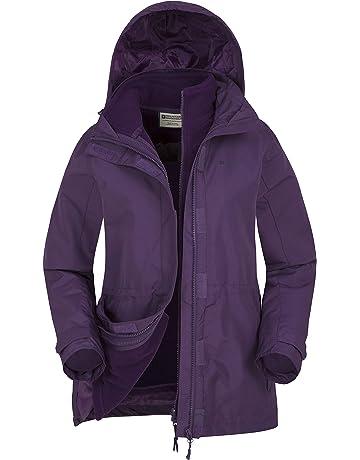 ee56e5631c Mountain Warehouse Veste 3 en 1 Fell pour Femmes - Manteau imperméable,  Capuche Ajustable et