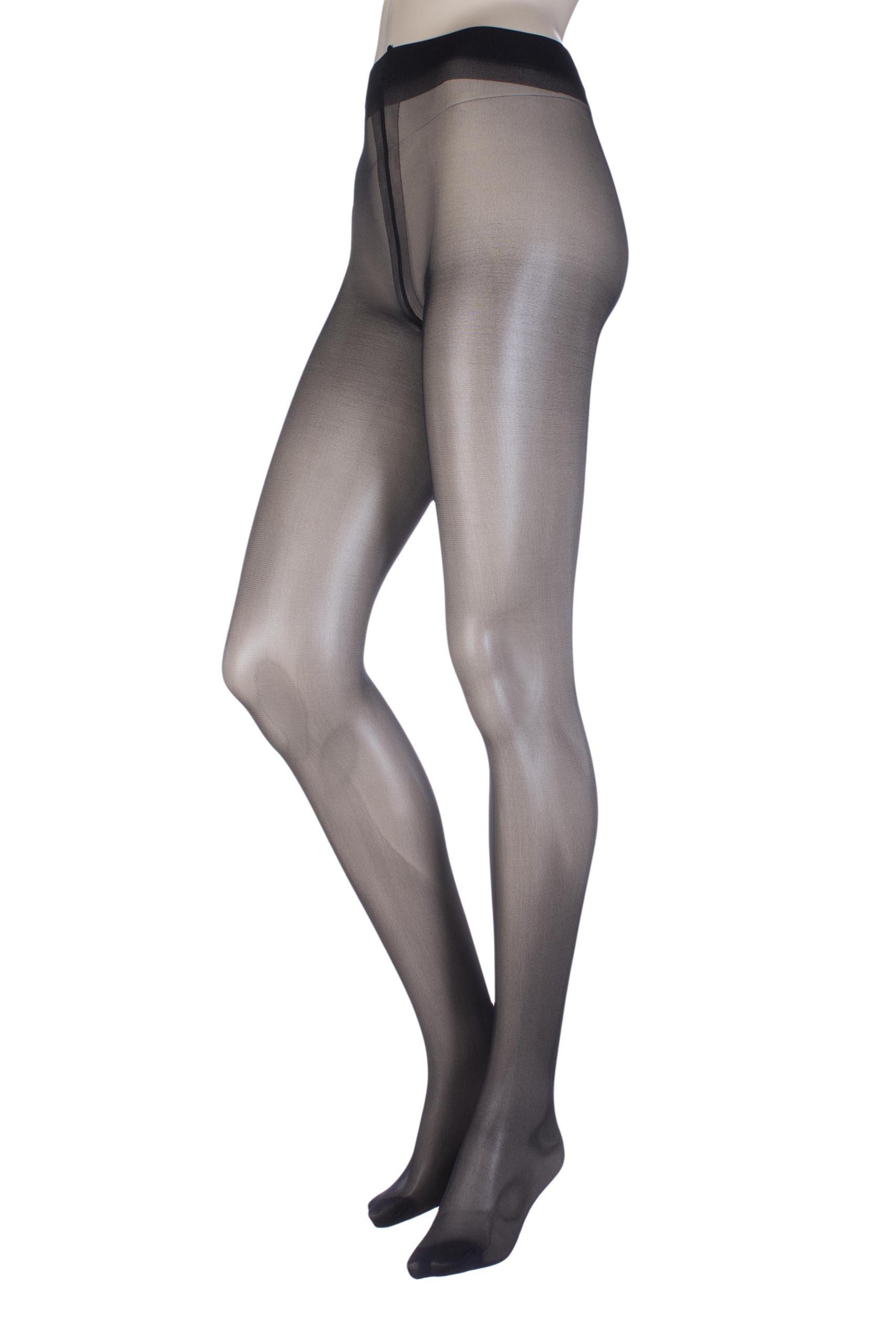 Ladies 1 Pair Oroblu Repos 70 Denier Graduated Compression Tights Black Small