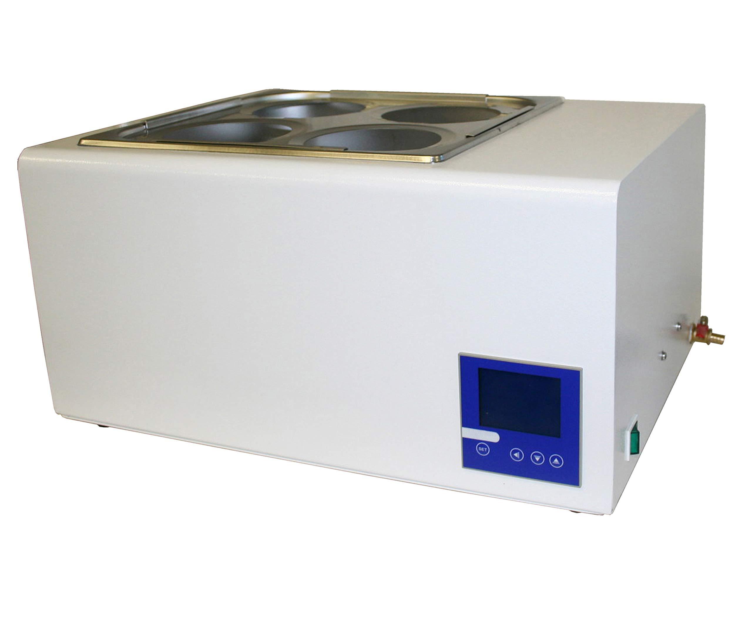 Jackson Global JS-HW-8L Digital Water Bath   Capacity:8 Liter   Temperature Range: 5-99 ºC   Voltage: 110V / 50-60Hz   Temperature Fluctuation: ±0.2 ºC