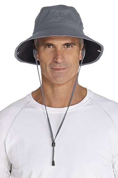 931757235f9346 Coolibar UPF 50+ Men's Featherweight Bucket Hat - Sun Protective  (Small/Medium-