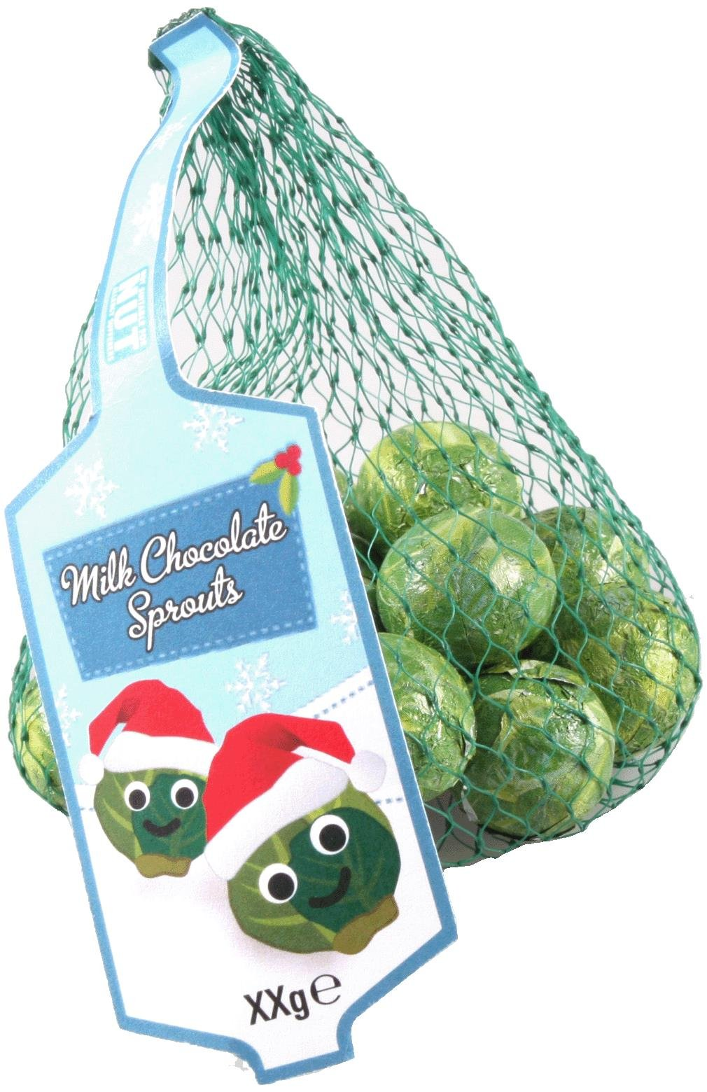 Festive Christmas Milk Chocolate Sprouts Net - 75g