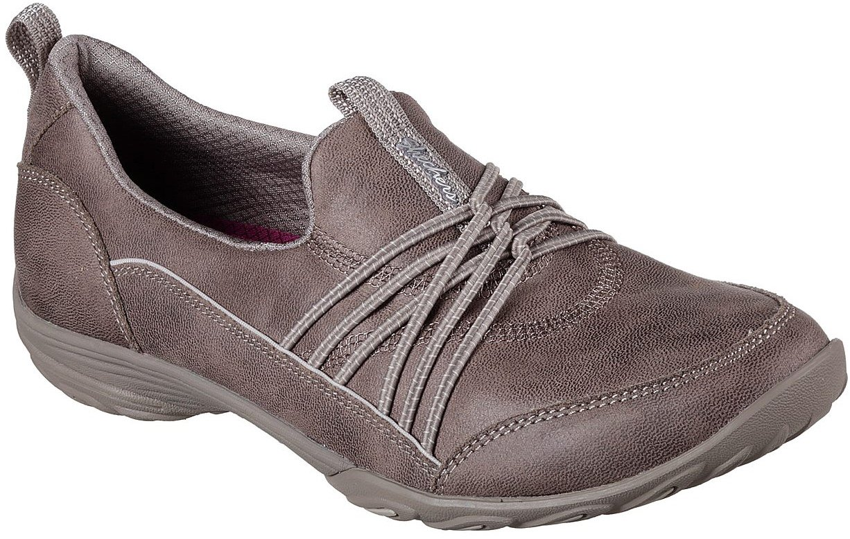 Skechers Women's Empress Lets BE Real Sneaker B079NP3FKG 6.5 B(M) US|Dark Taupe
