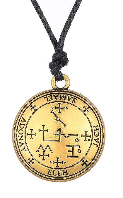 Ancient Sigil Of Archangel Samael Enochian Solomon Talisman