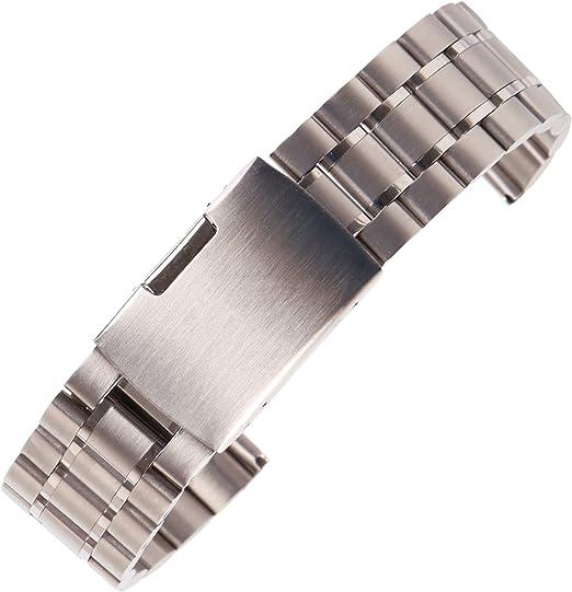 Acheter Bracelet De Bracelets En Acier Inoxydable Noir 18mm 20mm 22mm 24mm Bracelet De Montre En Métal Massif Bracelet Pour Homme Accessoires + Outil