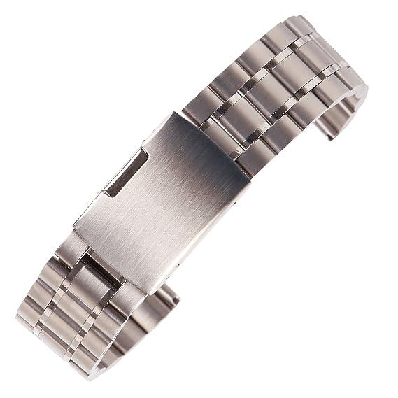 22mm Pulsera Elegante Correa de Reloj de Acero Inoxidable ...