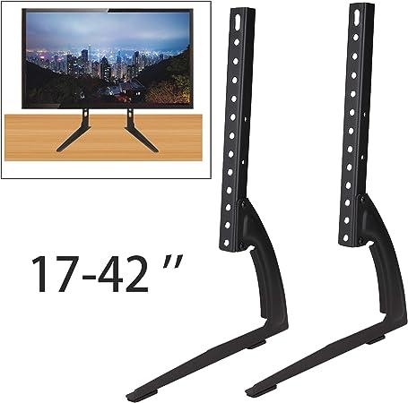 Yorking Tv Ständer Monitor 17 42 Zoll Fernseher Standfuß Universal Höhenverstellbar Tv Halterung Küche Haushalt