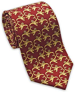 product image for Josh Bach Men's Barrel of Monkeys Silk Necktie Red, Made in USA