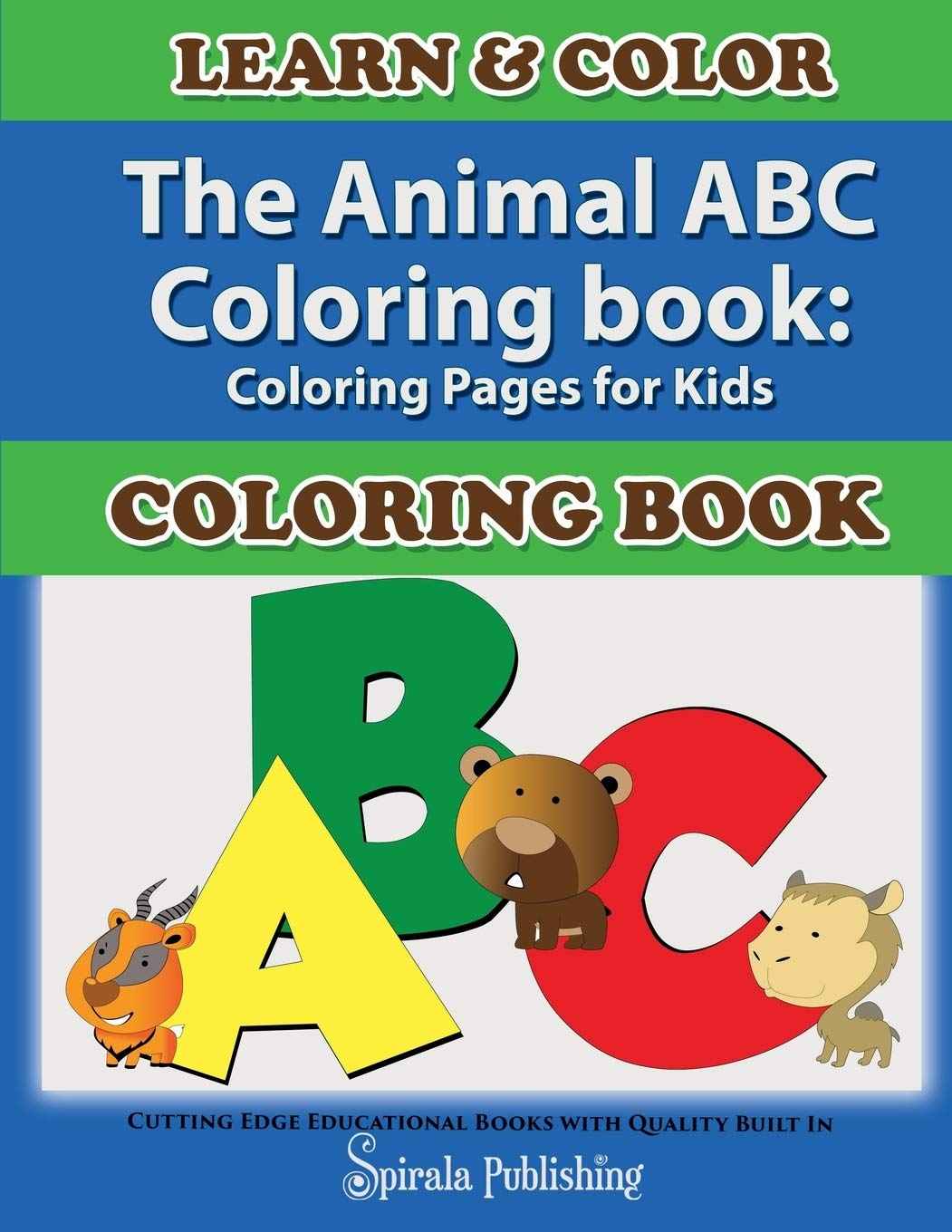 ABC Alphabet Coloring Sheets - ABC Bear - Animals coloring page ... | 1360x1051