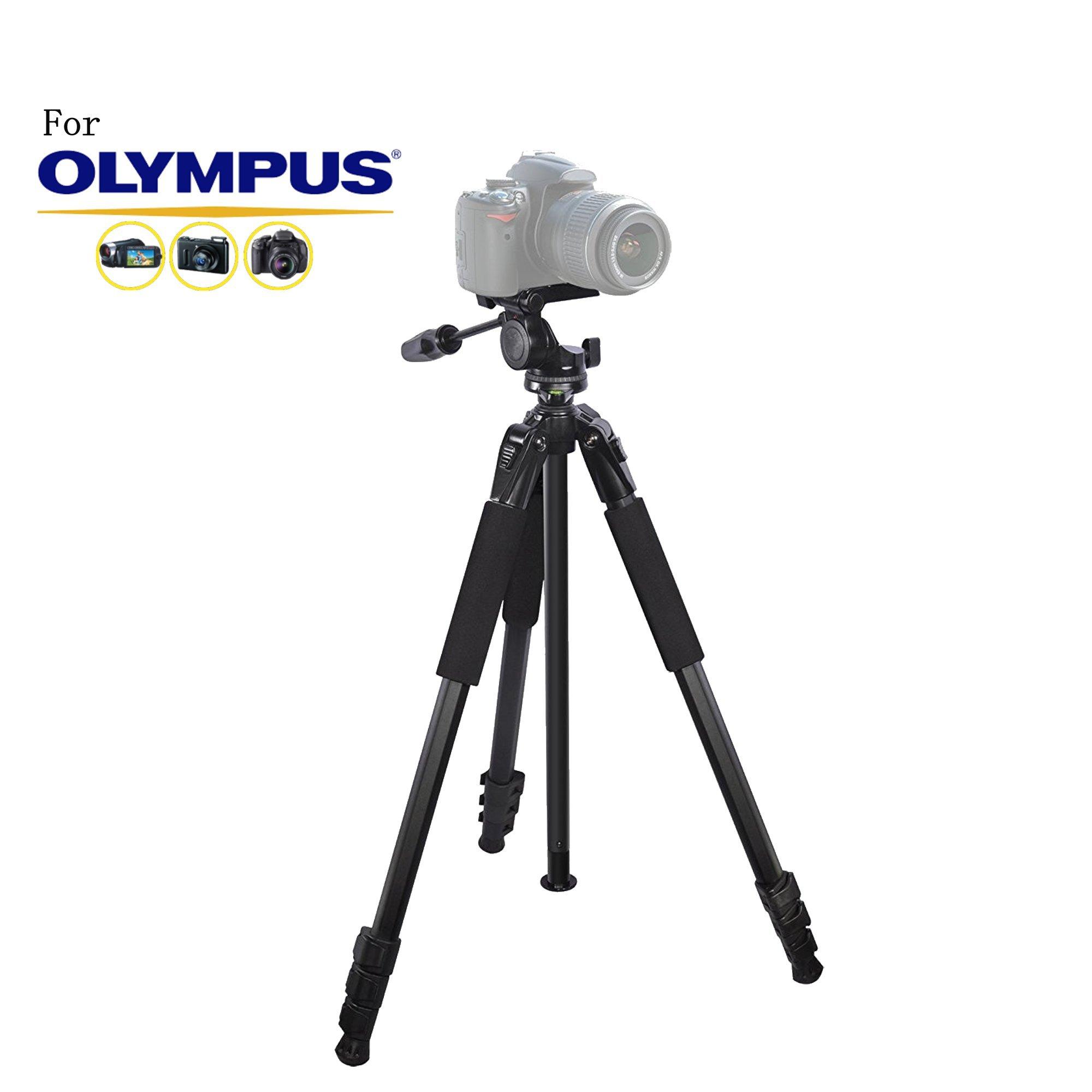 80 inch Heavy Duty Portable tripod for Olympus E-620, OM-D E-M1, OM-D E-M10, OM-D E-M10 II, OM-D E-M5, OM-D E-M5 II, SP-350 Cameras: Travel tripod
