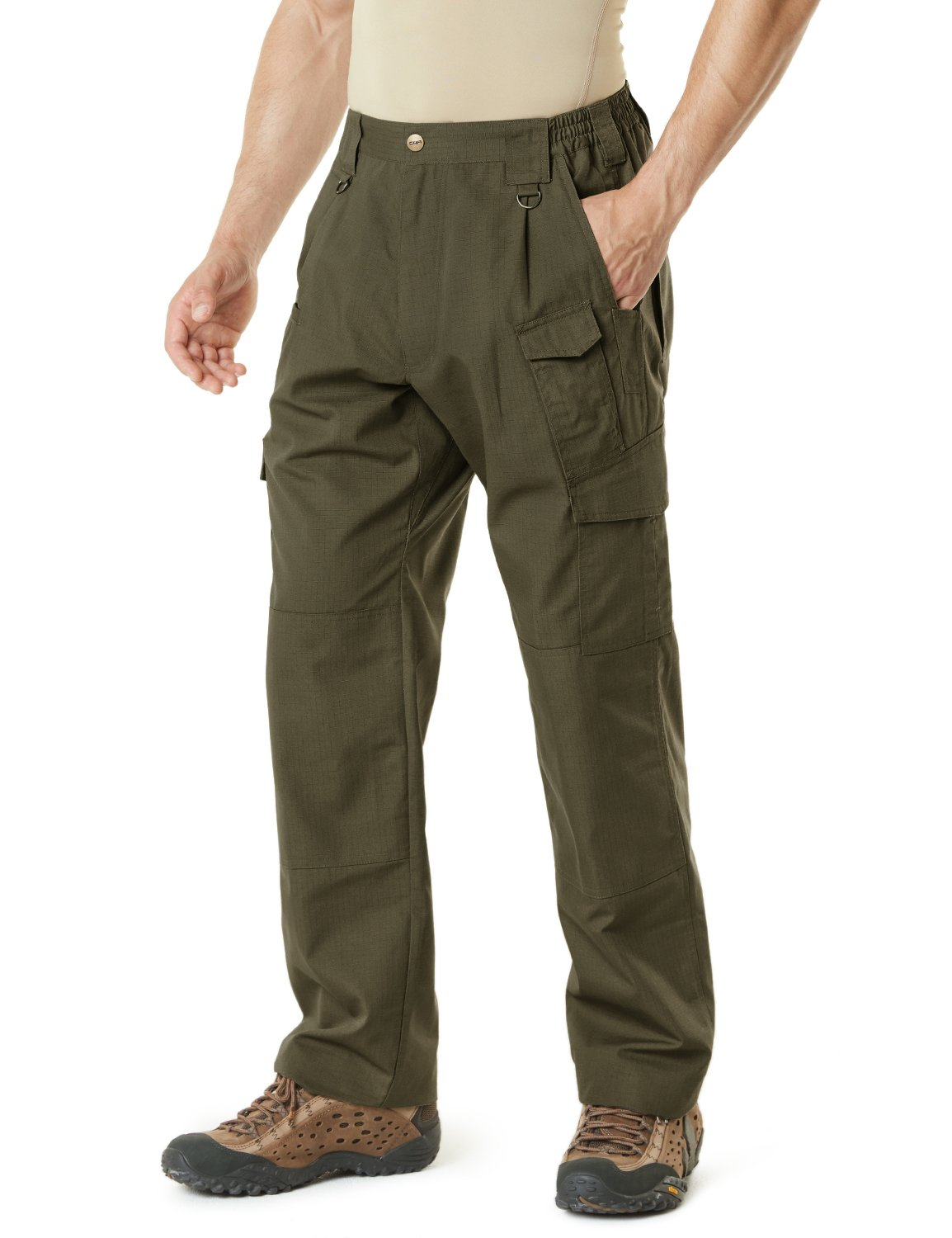 CQR CQ-TLP105-TDR_32W/32L Men's Tactical Pants Lightweight EDC Assault Cargo TLP105