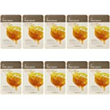 The Face Shop Real Nature Honey Face Mask, 20g (Pack of 10)
