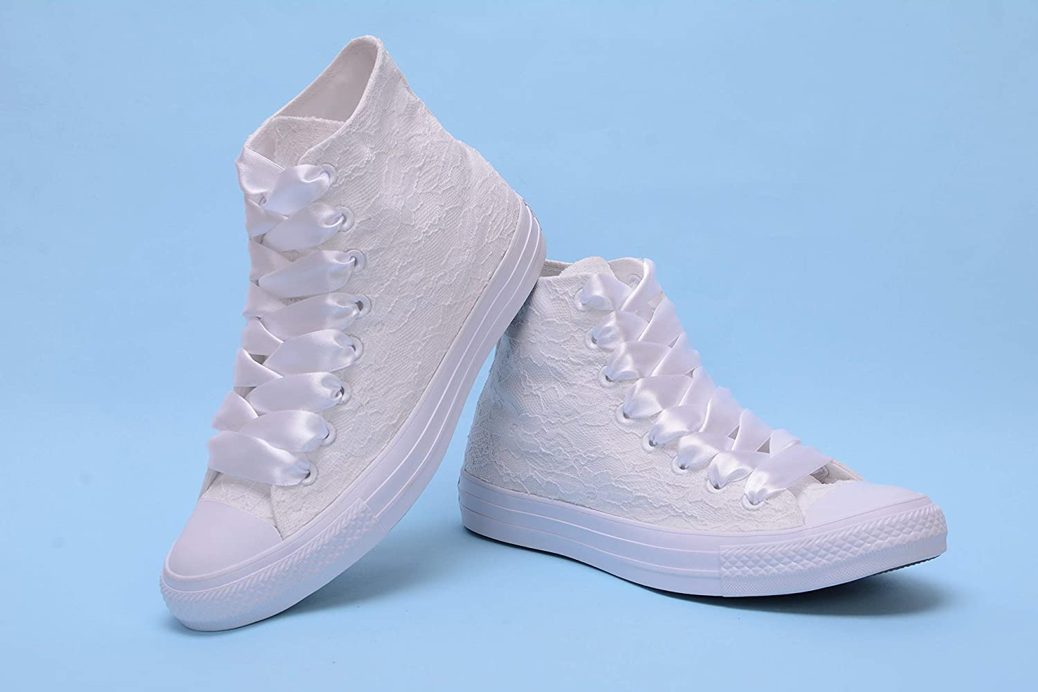 White Hight Top Wedding Sneakers