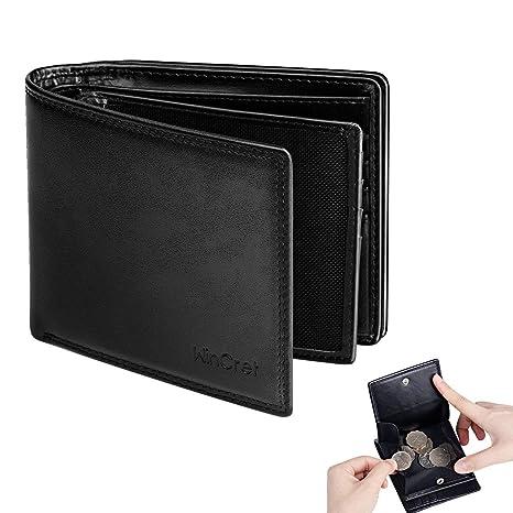 WinCret Portafoglio Uomo Portafoglio in Vera Pelle con Finestra ID e Porta  Monete Rfid Blocking Wallet 72fc3ef7063