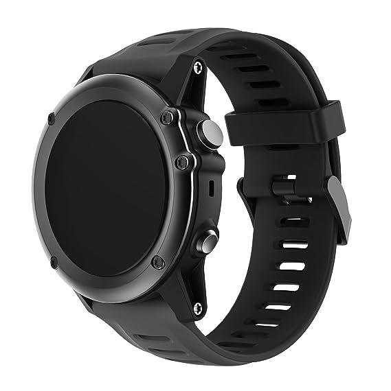 CSVK Garmin Fenix 3/Fenix 5X Watch Band, Soft Silicone Replacement Watch Accessory Strap
