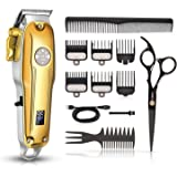 Cordless Hair Clippers, CIICII Professional Hair Clippers Trimmer Set (12Pcs Hair Beard Cutting Grooming Trimming…
