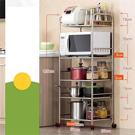Unidad de estantería de cocina de 5 estantes | Heavy Duty ...