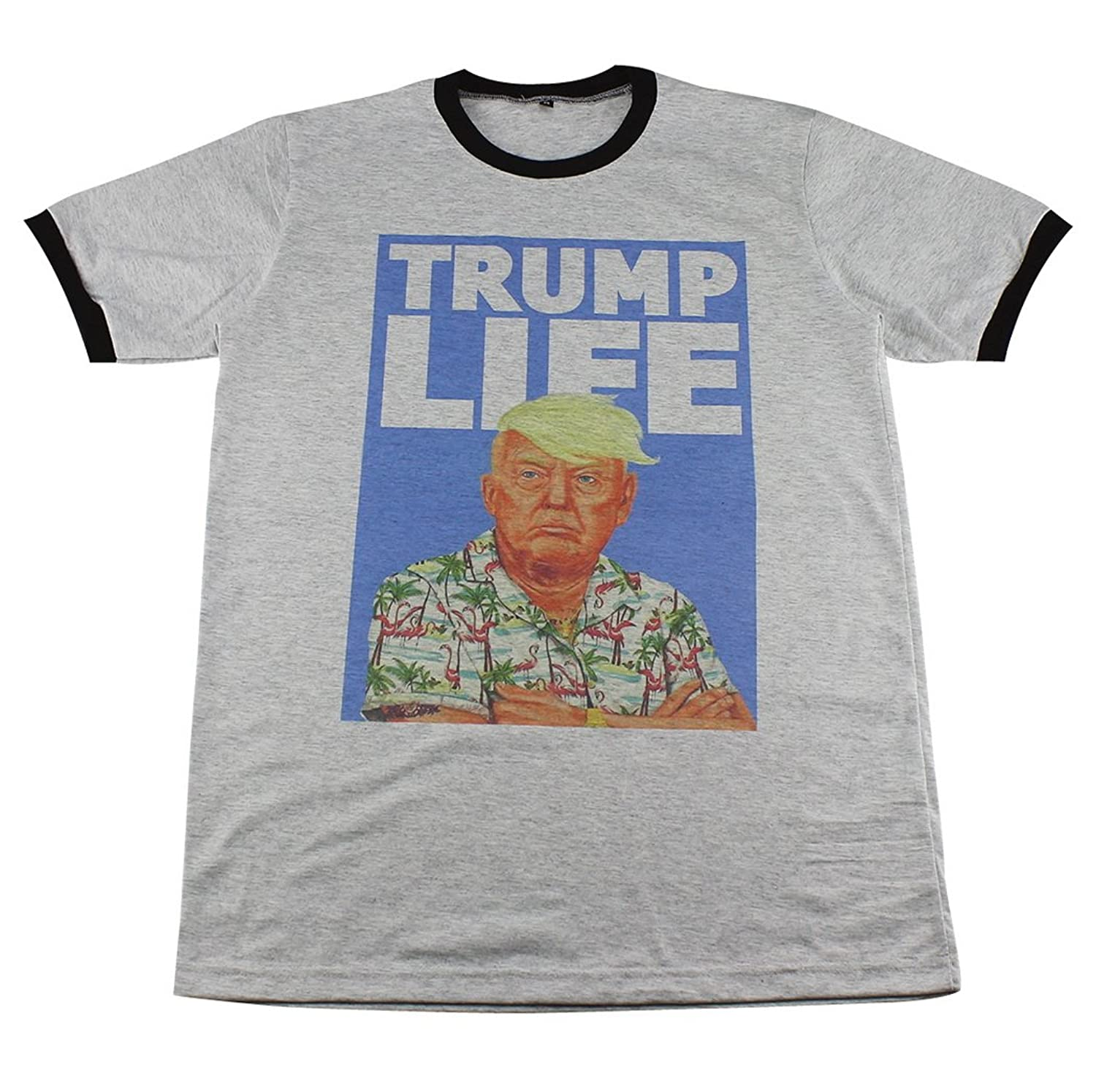 Donald Trump aloha election pop art street wear retro T-Shirt / GV242.4 size M