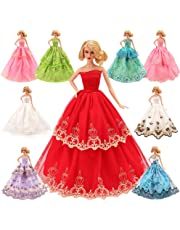 Barwa 5 Pcs Handmade 11.5 inch Doll Clothes Tug of War Grown Wedding Party Dresses Suit for Barbie Dolls