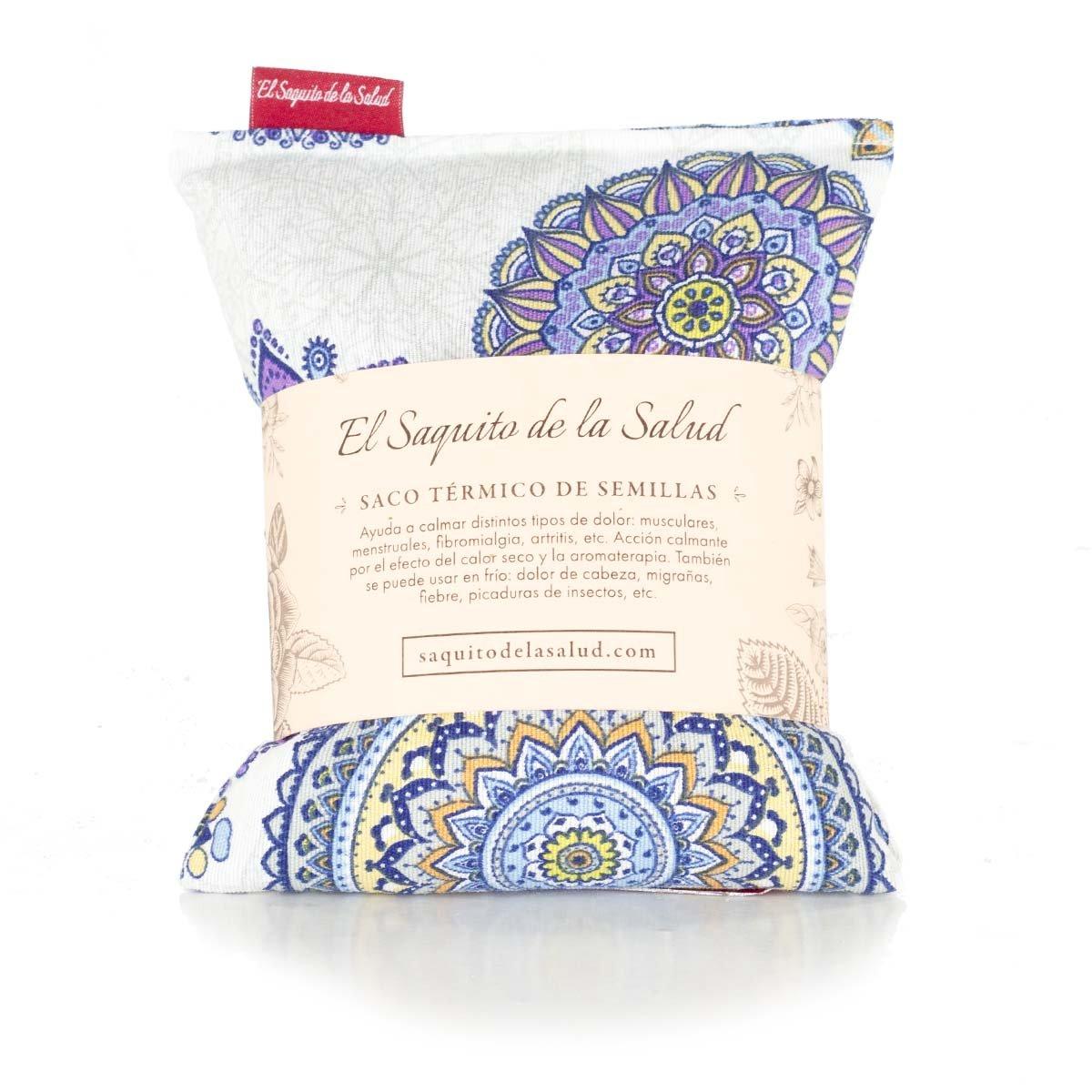 Saco Térmico de Semillas aroma Lavanda, Azahar o Romero tejido Estrellas Azules (Azahar, 23 cm): Amazon.es: Hogar