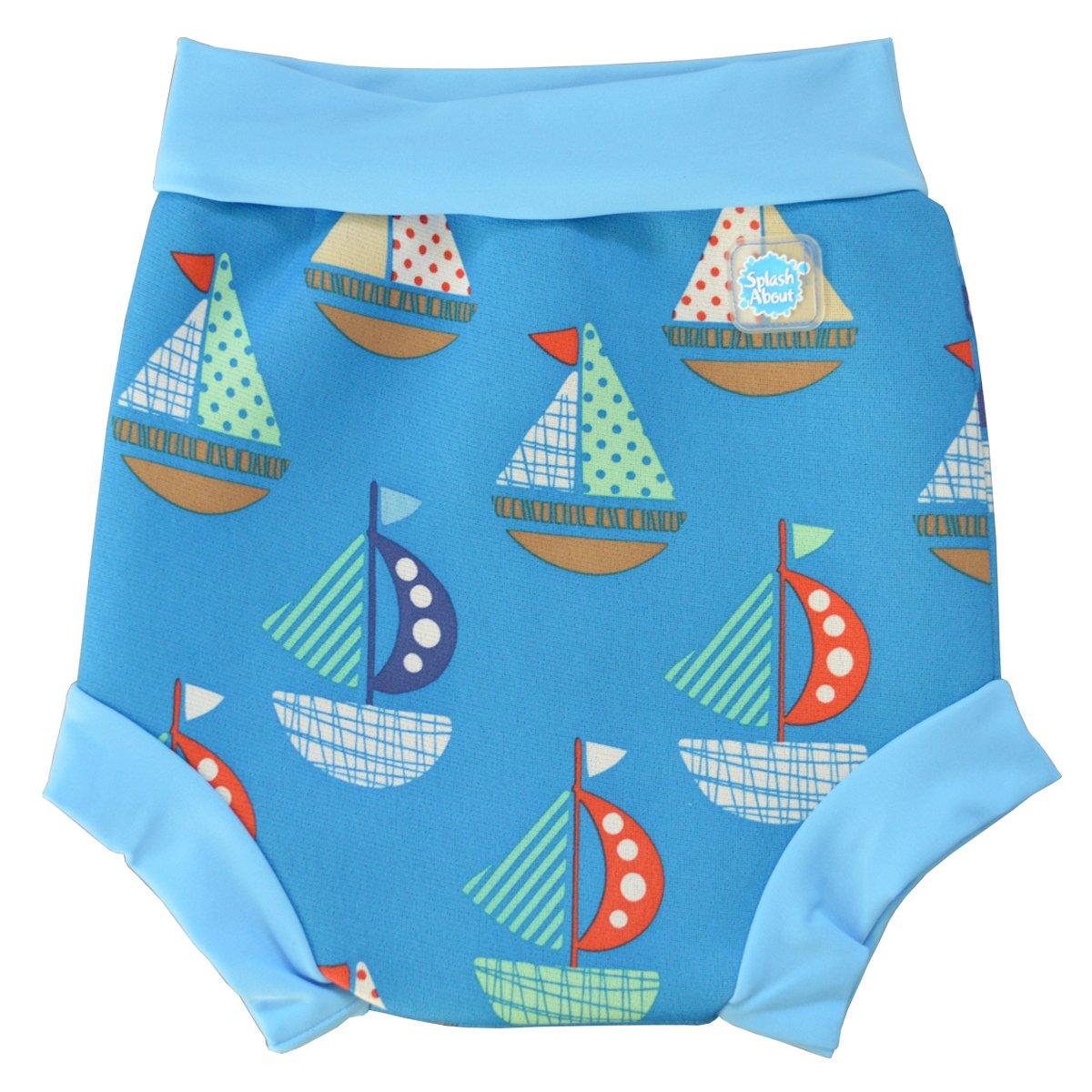 Splash About neoprene Happy Nappy (Swim Diaper), Navy with Red & White stripe, XS (Premature to 2 mths) HNNRSXS