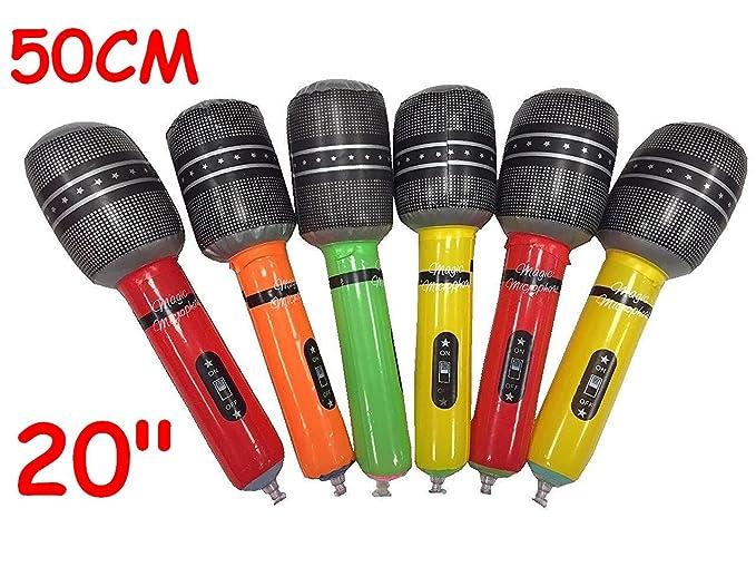 Lot de 6 grands Big gonflable Micro Accessoires de fête 50 cm 50,8 cm Multi couleurs