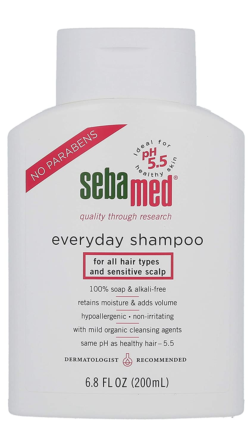 Sebamed everyday shampoo, for all hair types and sensitive scalp, 6.8 Fluid Ounce Bottle by Sebamed B000BRSHX4