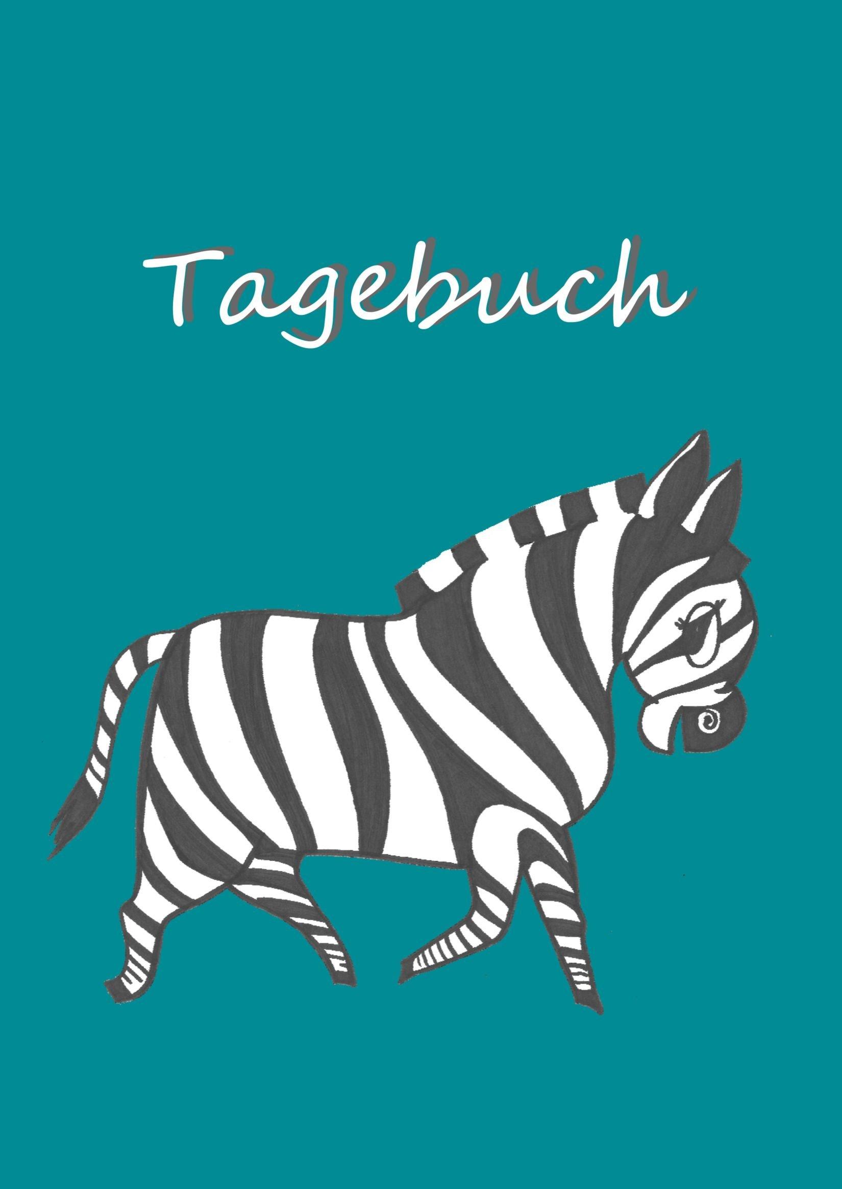 Zebra - Tagebuch/Notizbuch: DIN A4, 108 Seiten, liniert