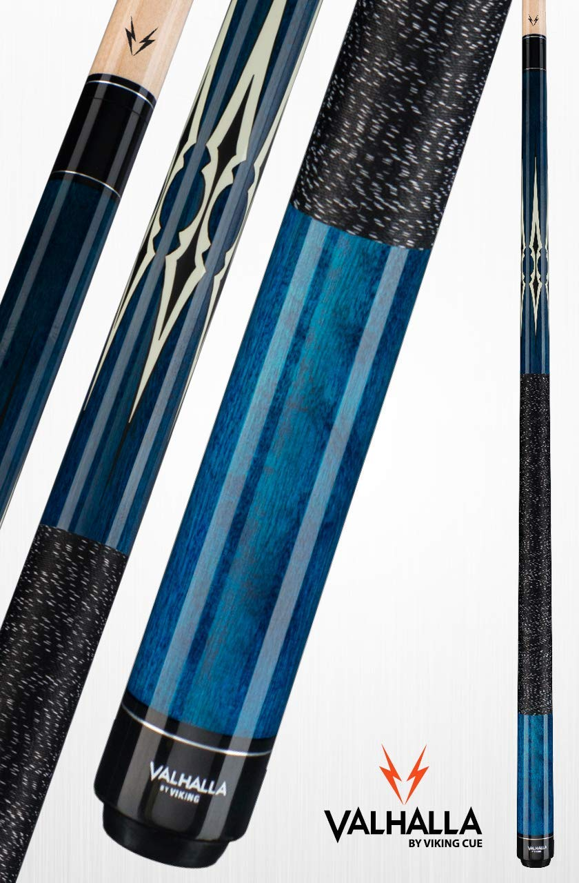 Viking Valhalla 200 Series Pool Cue 58'' Billiards Stick Pick Your Design (19oz, VA231)