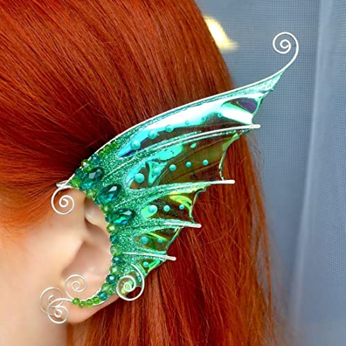 069a9b5c6 Elven Ear Cuffs Fairy Ear Cuffs Cosplay Elf Ear Cuffs, Fantasy Costume Ear  Cuffs, Dragon Wings Ear Cuffs, Wire Ear Cuffs Set of 1 Pair Mermaid Earrings