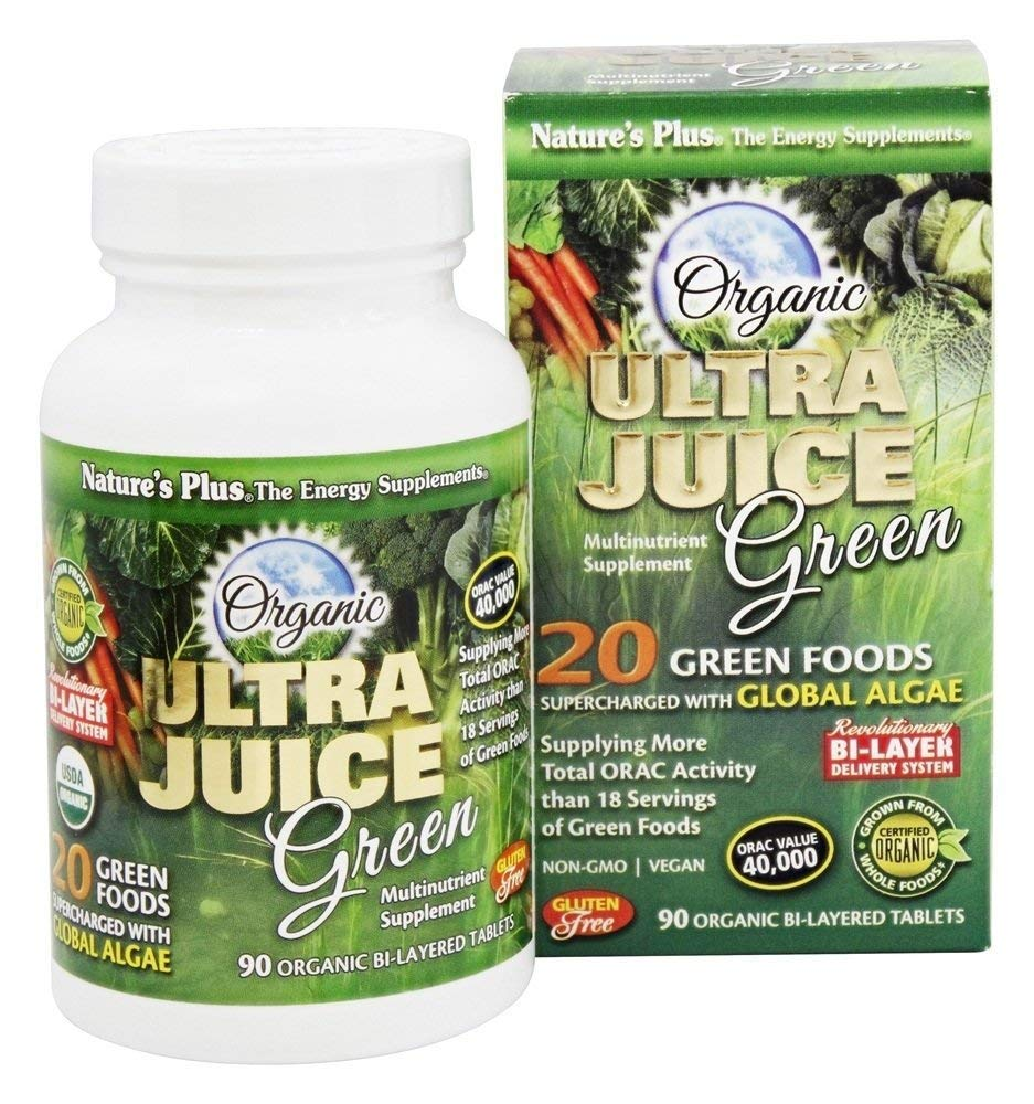 Natures Plus ULTRA JUICE GREEN tabletaS 90: Amazon.es: Salud y ...
