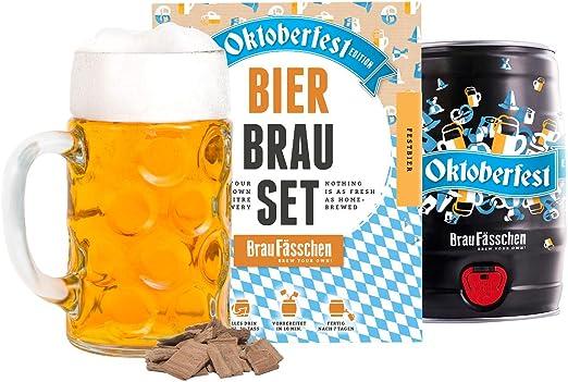 tutto incluso Kit per birra in stile Oktoberfest con fusto da 5 litri perfetto regalo di compleanno pronto in 7 giorni Brewbarrel//Brauf/ässchen