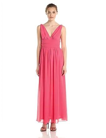 Ever Pretty Damen V-Ausschnitt Lange Chiffon Abendkleider Festkleider 36 Hellviolett