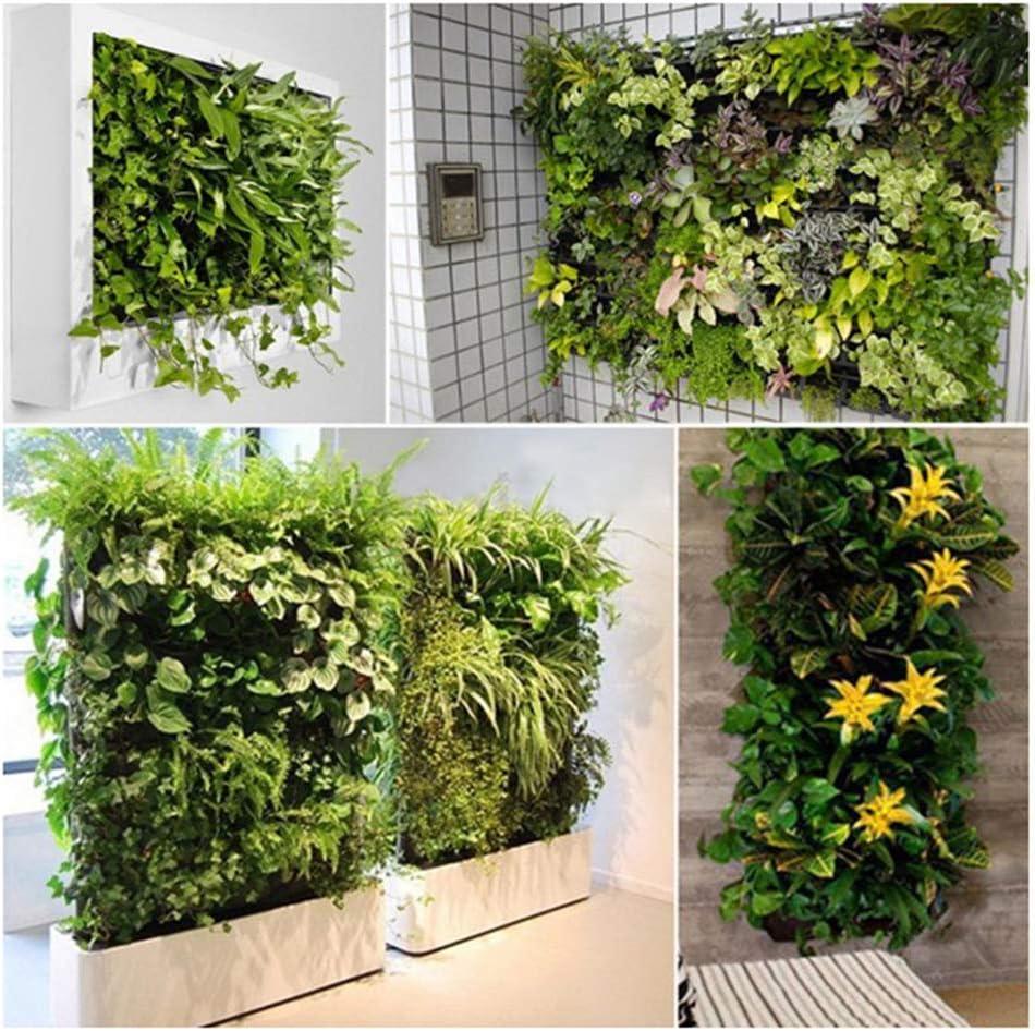 YAMMY Adornos De Jardín, 64 Bolsillo Tiesto Vertical Jardín Colgante Verde Pared Macetas Gran Jardín Macetas para Balcones 100cm * 100cm: Amazon.es: Deportes y aire libre