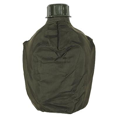 MFH plastique Gourde avec housse Autrichien Champ en plastique 1l bouteille Camping bouteille ardoise