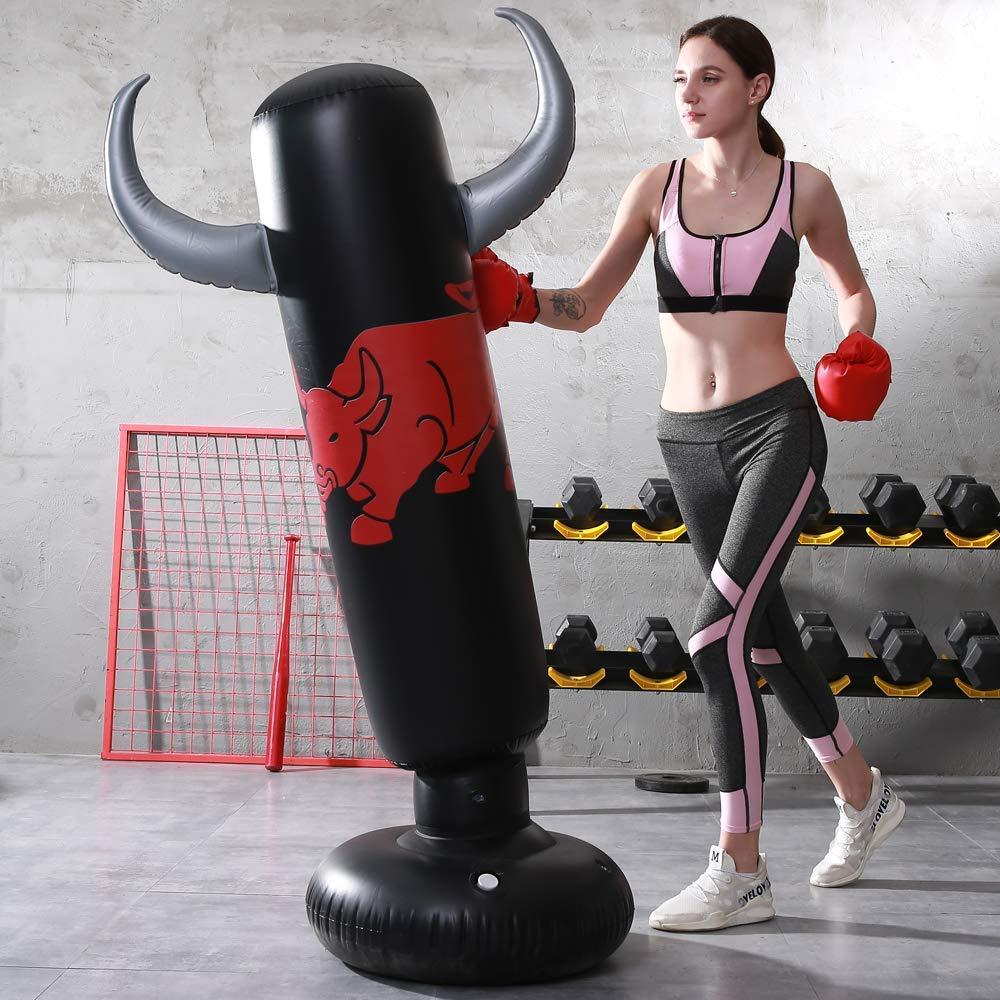 Boxing Target Bag for Children Teens Adult SUNSHINEMALL Inflatable Punching Tower Bag Boxing Column Tumbler Sandbags Fitness//Training//Fun Activity