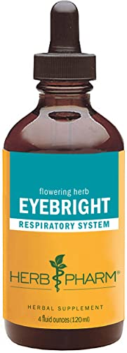 Herb Pharm Certified Organic Eyebright Liquid Extract for Respiratory System Support – 4 Ounce