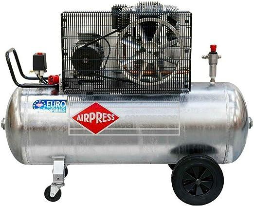 Airpress ölgeschmierter Druckluft Kompressor 5 5 Ps 4 Kw 11 Bar Verzinkter 270 Liter Kessel 400 Volt Großer Kolben Kompressor Gk 700 300 Baumarkt