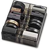 byAlegory Acrylic Compact Makeup Organizer Designed For Larger Compacts | 10 Spaces Designed To Stand Or Lay Flat