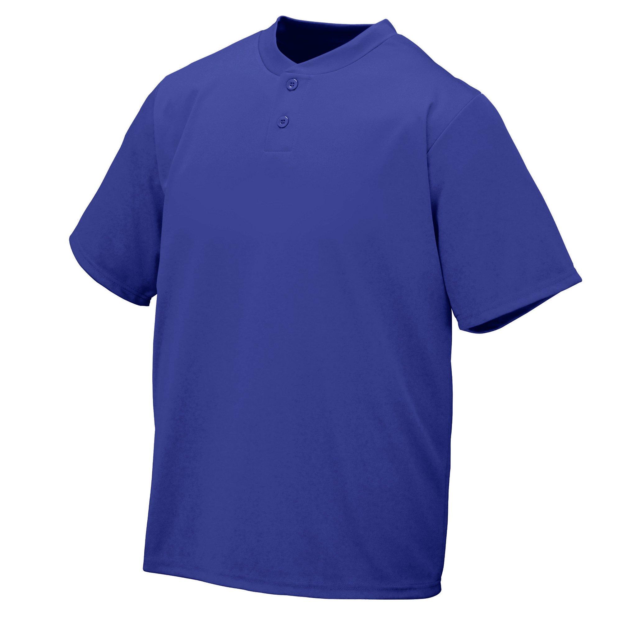 Augusta Sportswear Wicking Two-Button Jersey 3XL Purple by Augusta Sportswear