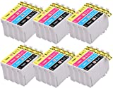 PerfectPrint Compatible Ink Cartridge Replacement for Epson Stylus SX230 420W 440 525WD 535WD and Epson Stylus Office B42WD 320FW 525WD 535WD 625FWD 925FWD 935FWD (Black/Cyan/Magenta/Yellow, 24-pack)