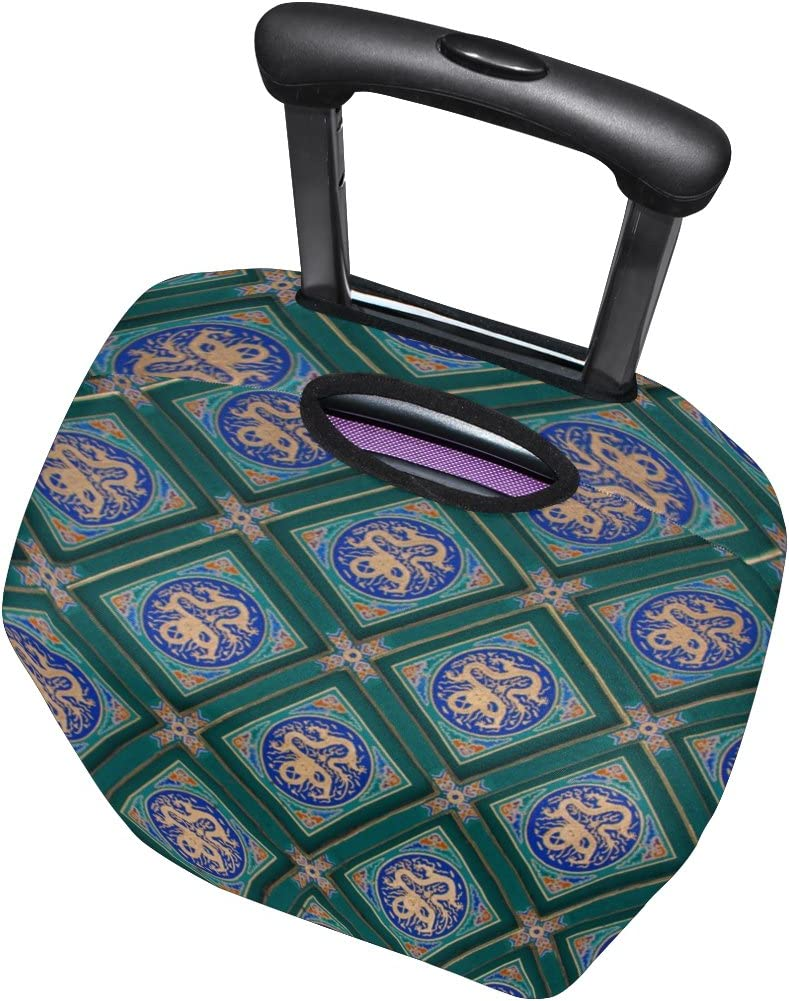 LEISISI Vintage Art Luggage Cover Elastic Protector Fits XL 29-32 in Suitcase
