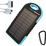 Brolar - Solar Charger 5000mAH Portable Power Bank for iPhone 6, iPad, Android, Cell Phone, Tablet. Waterproof, DustProof, ShockProof, Portable Smart Phone Charger by Brolar