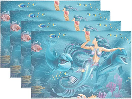 activity mat Mermaid chalkboard place mat childrens place mat