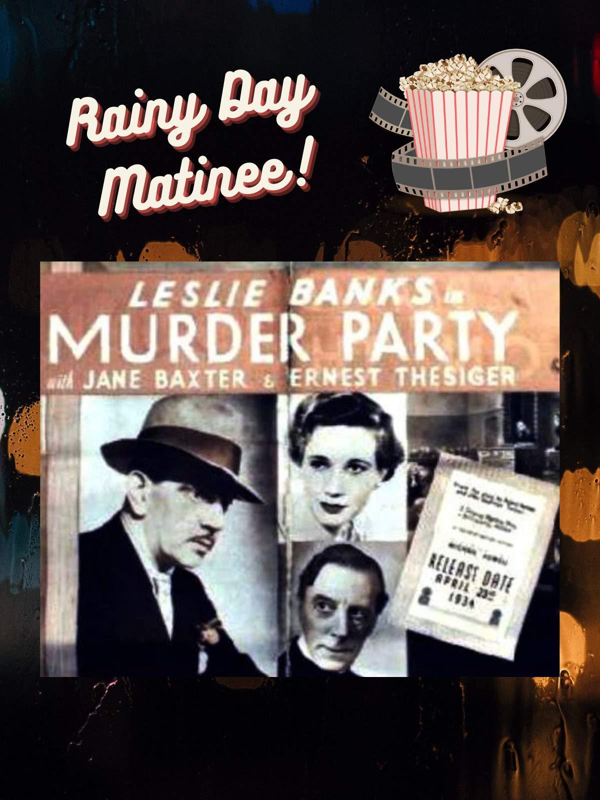 British Classic Mystery Thriller Murder Party