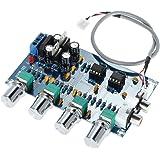 KKmoon AC 12V-15V 4 Canaux Plaque de préamplificateur, Timbre optimisé, Stéréo Audio Amplificateur